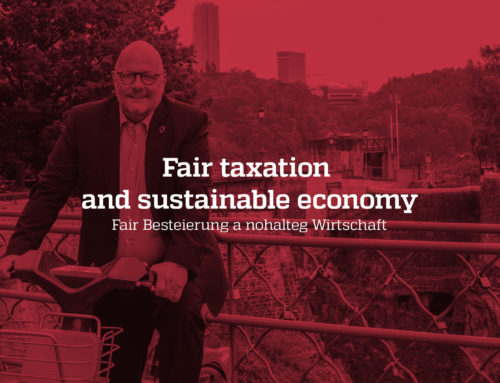Fair taxation and sustainable economy